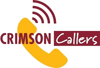 This is a picture which shows a logo that represents crimson callers at DU!